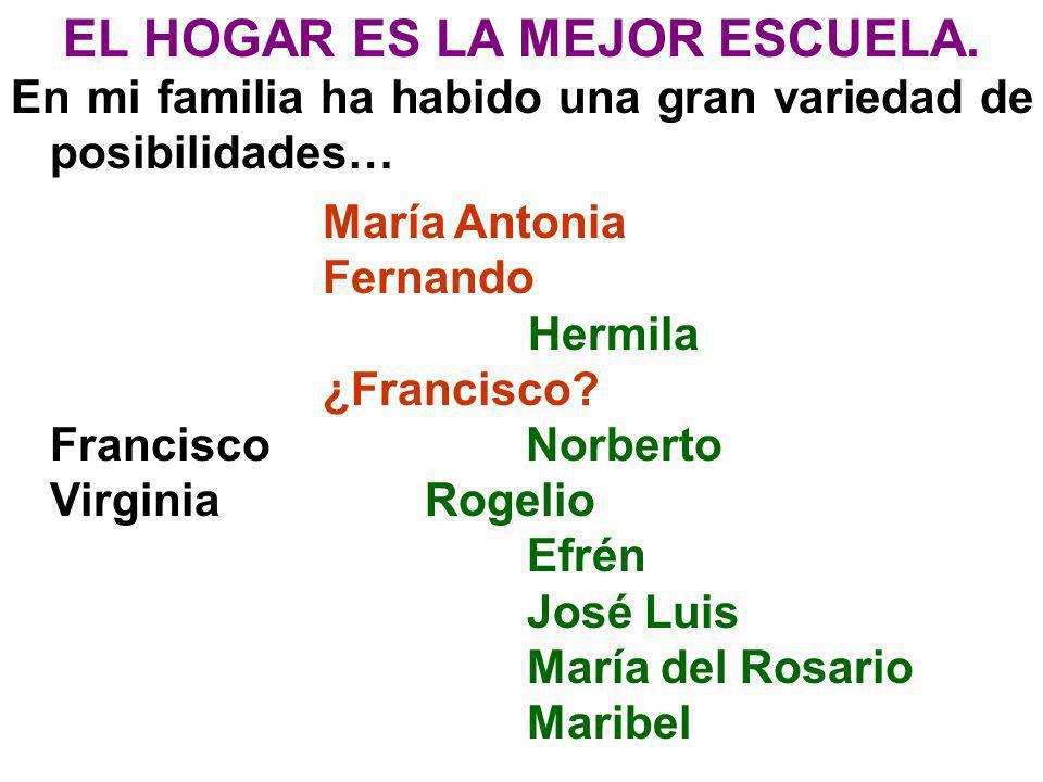 EL HOGAR ES LA MEJOR ESCUELA.