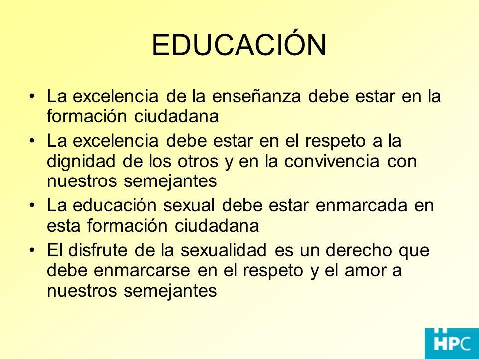 EDUCACIÓN La excelencia de la enseñanza debe estar en la formación ciudadana.