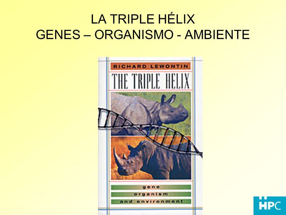LA TRIPLE HÉLIX GENES – ORGANISMO - AMBIENTE
