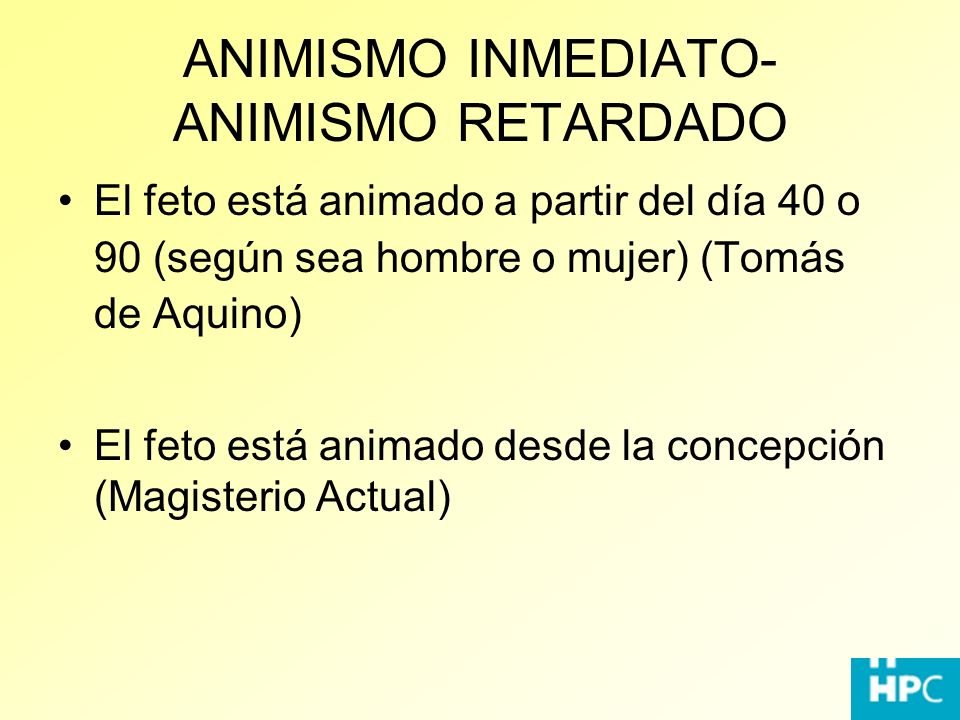 ANIMISMO INMEDIATO-ANIMISMO RETARDADO