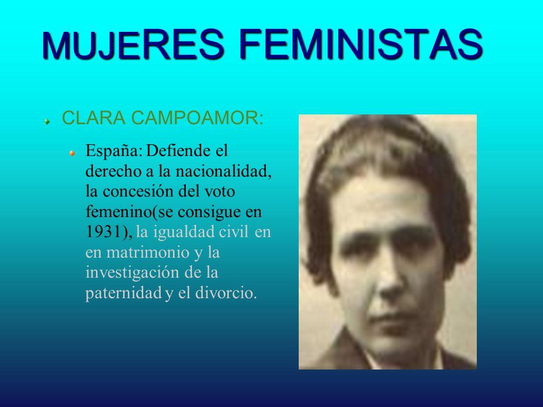 MUJERES FEMINISTAS CLARA CAMPOAMOR: