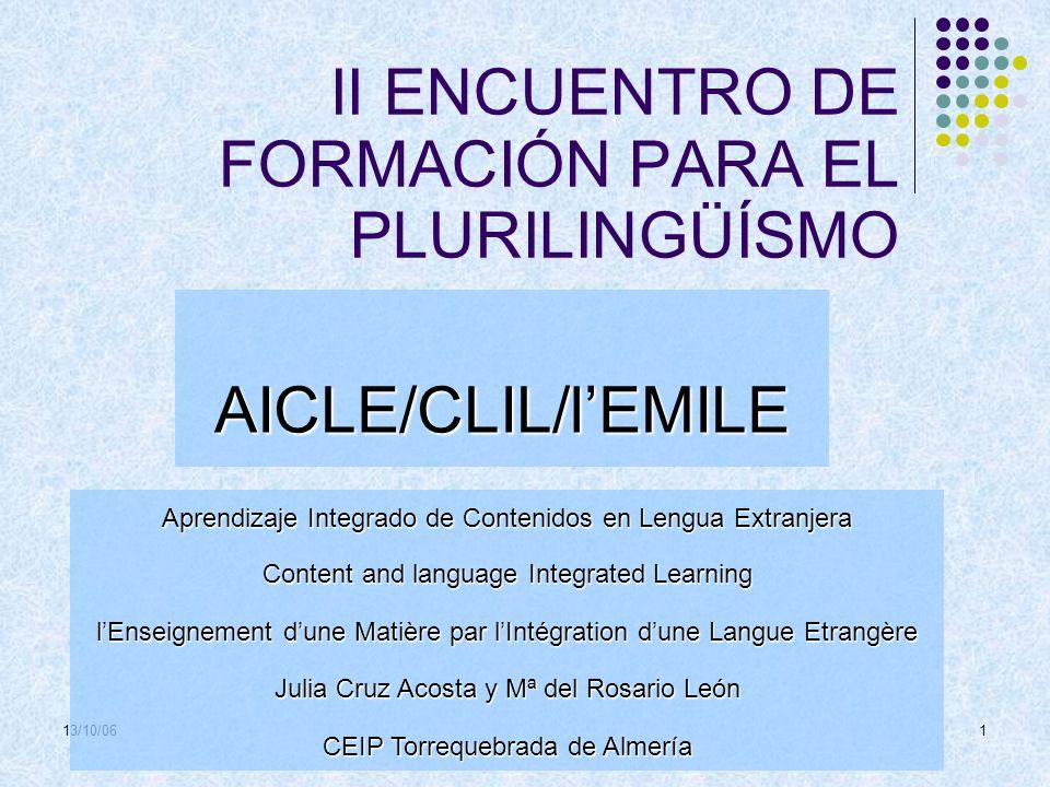 II ENCUENTRO DE FORMACIÓN PARA EL PLURILINGÜÍSMO