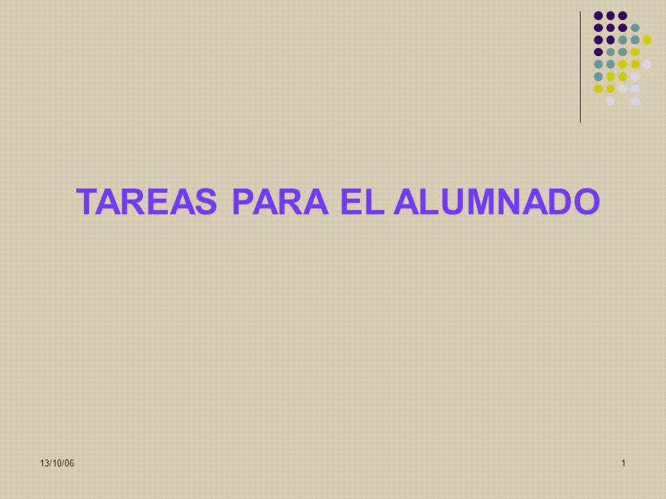 TAREAS PARA EL ALUMNADO