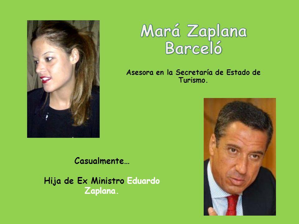 Mará Zaplana Barceló Casualmente… Hija de Ex Ministro Eduardo Zaplana.