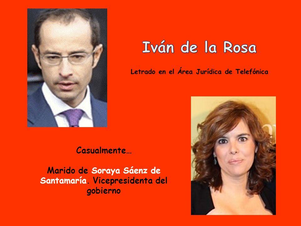 Casualmente… Marido de Soraya Sáenz de Santamaría