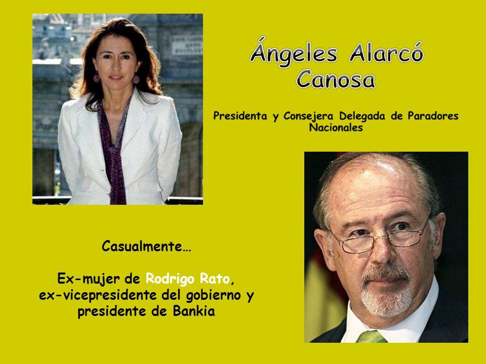 Casualmente… Ex-mujer de Rodrigo Rato, ex-vicepresidente del gobierno y presidente de Bankia