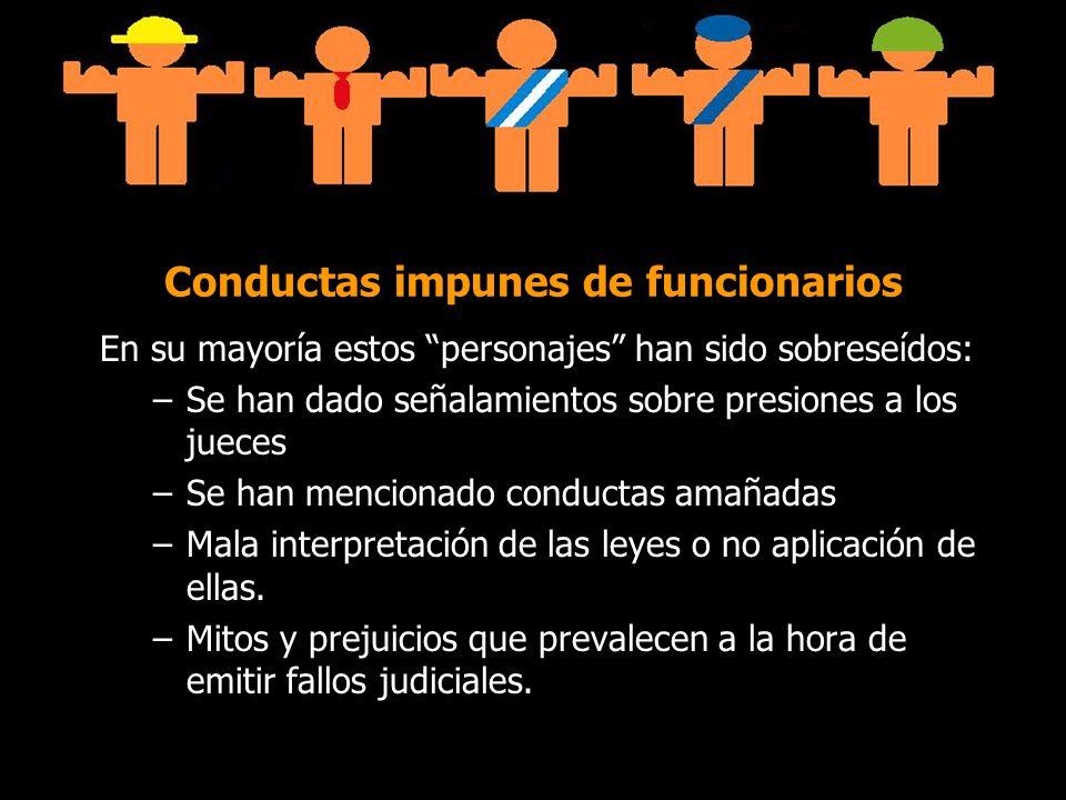 Conductas impunes de funcionarios