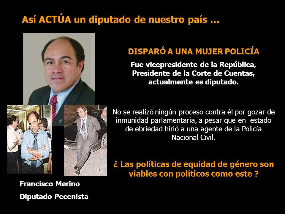 DISPARÓ A UNA MUJER POLICÍA