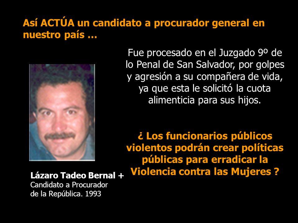 Así ACTÚA un candidato a procurador general en nuestro país …