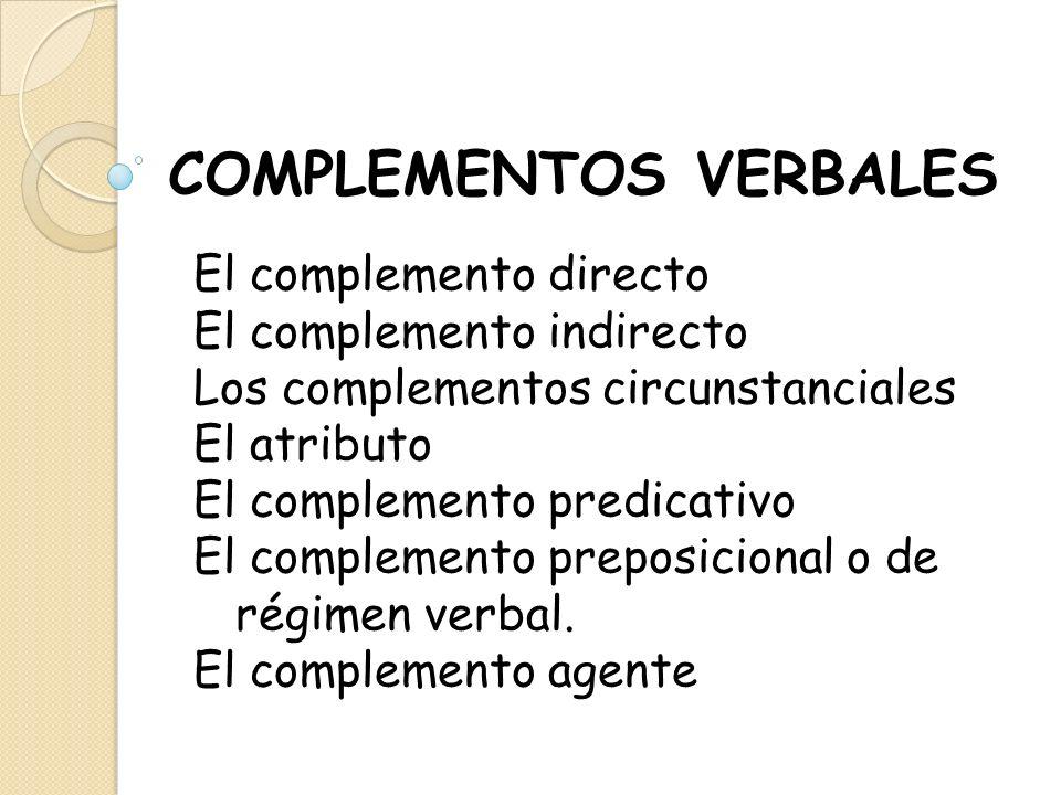 COMPLEMENTOS VERBALES