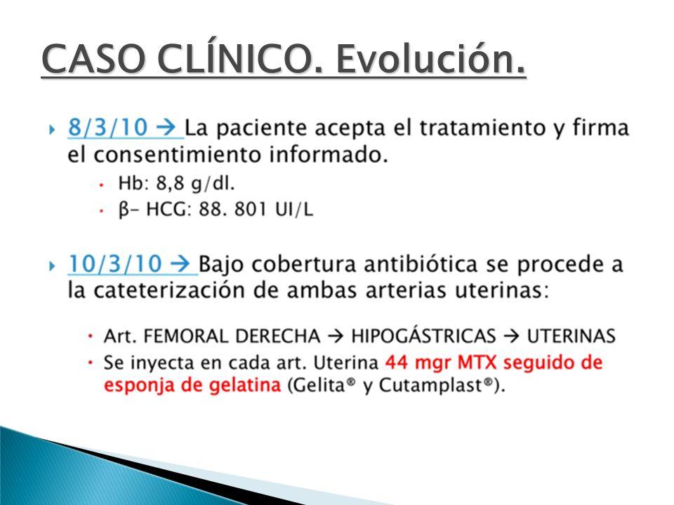 CASO CLÍNICO. Evolución.