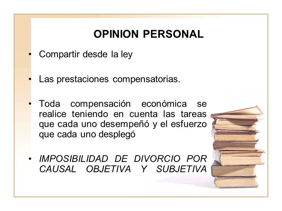 OPINION PERSONAL Compartir desde la ley