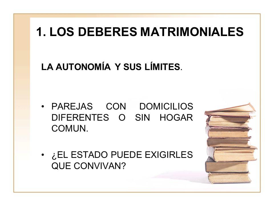 1. LOS DEBERES MATRIMONIALES