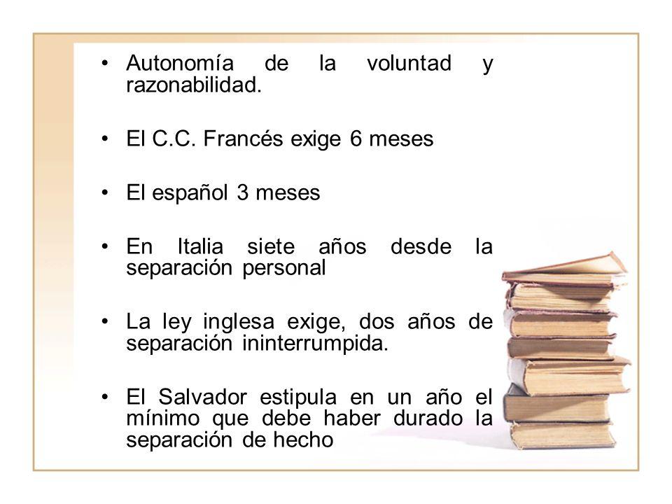 Autonomía de la voluntad y razonabilidad.
