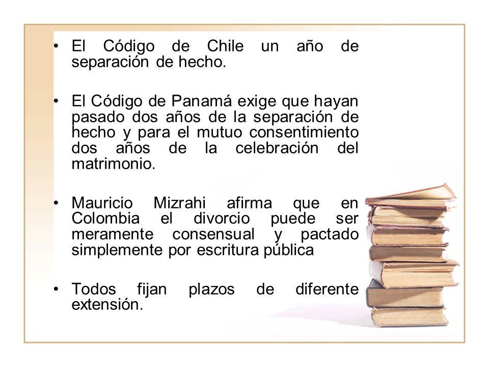 El Código de Chile un año de separación de hecho.
