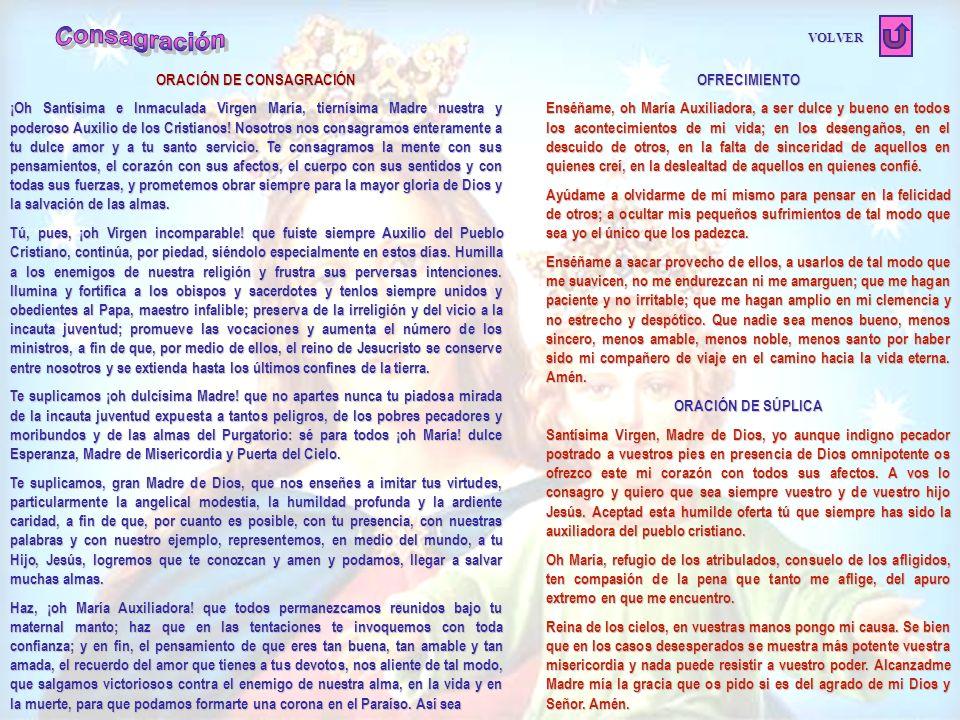 ORACIÓN DE CONSAGRACIÓN