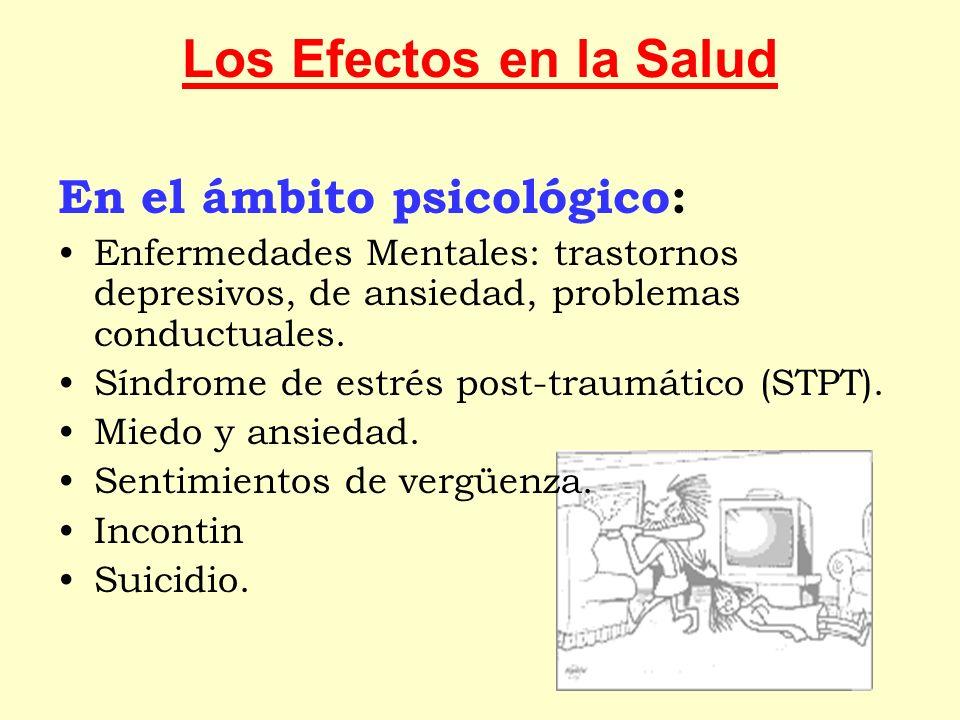 Los Efectos en la Salud En el ámbito psicológico: