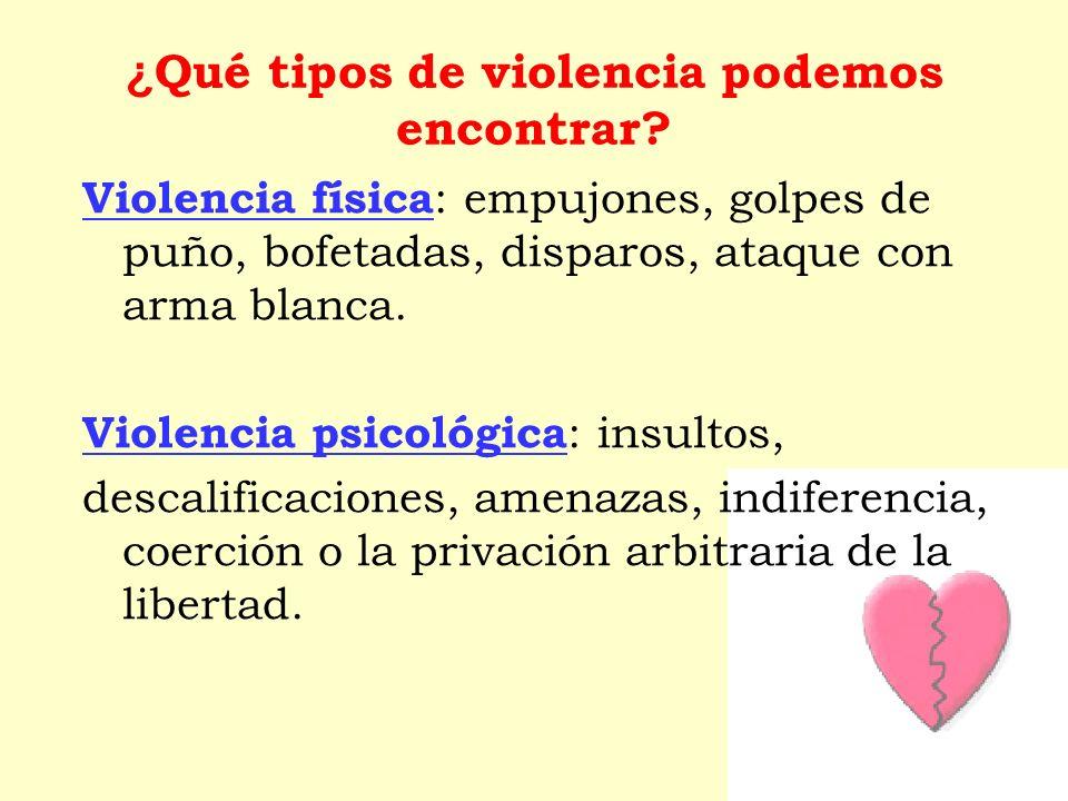 ¿Qué tipos de violencia podemos encontrar