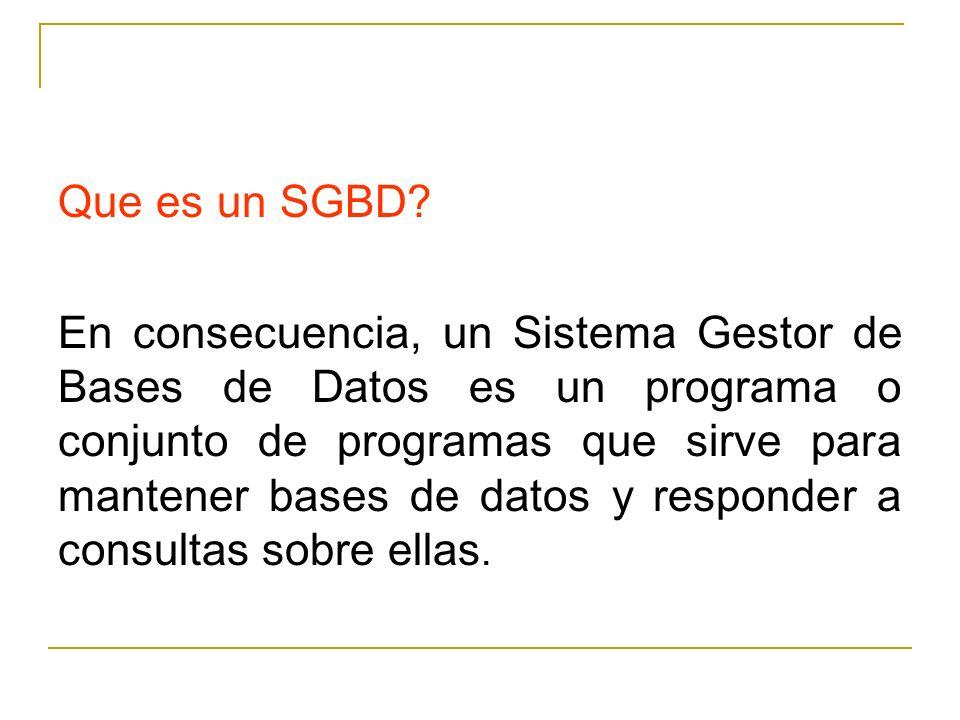 Que es un SGBD