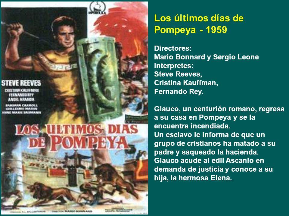 Los últimos días de Pompeya - 1959