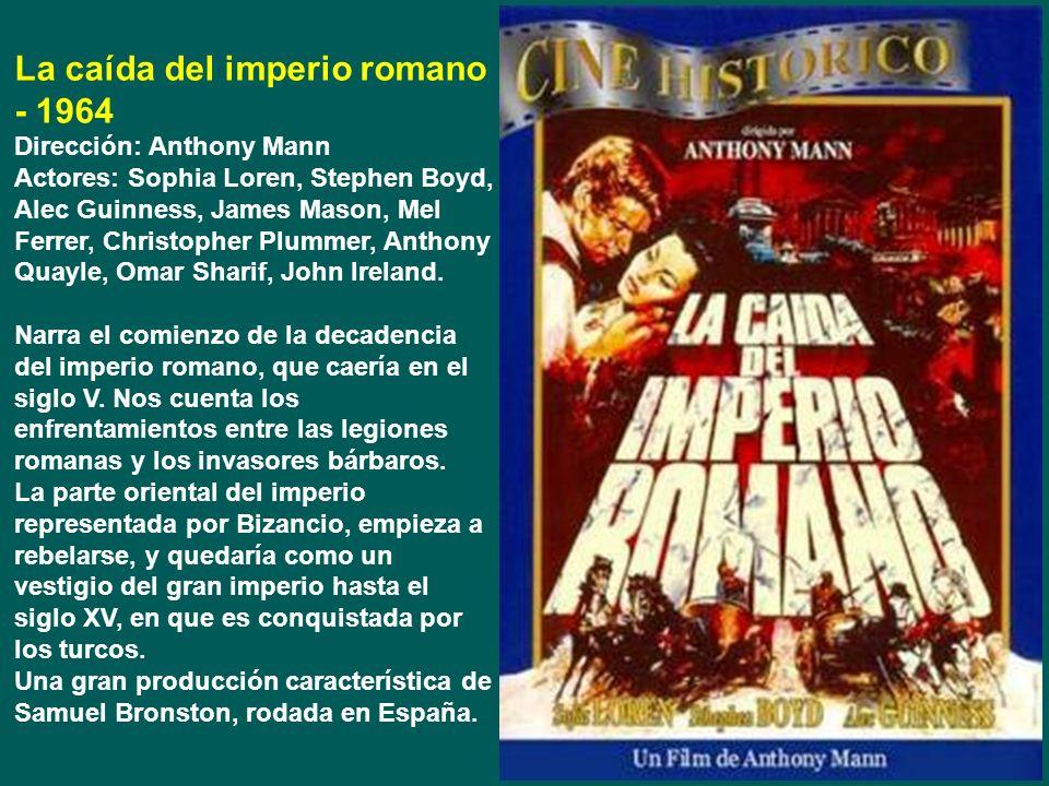 La caída del imperio romano - 1964