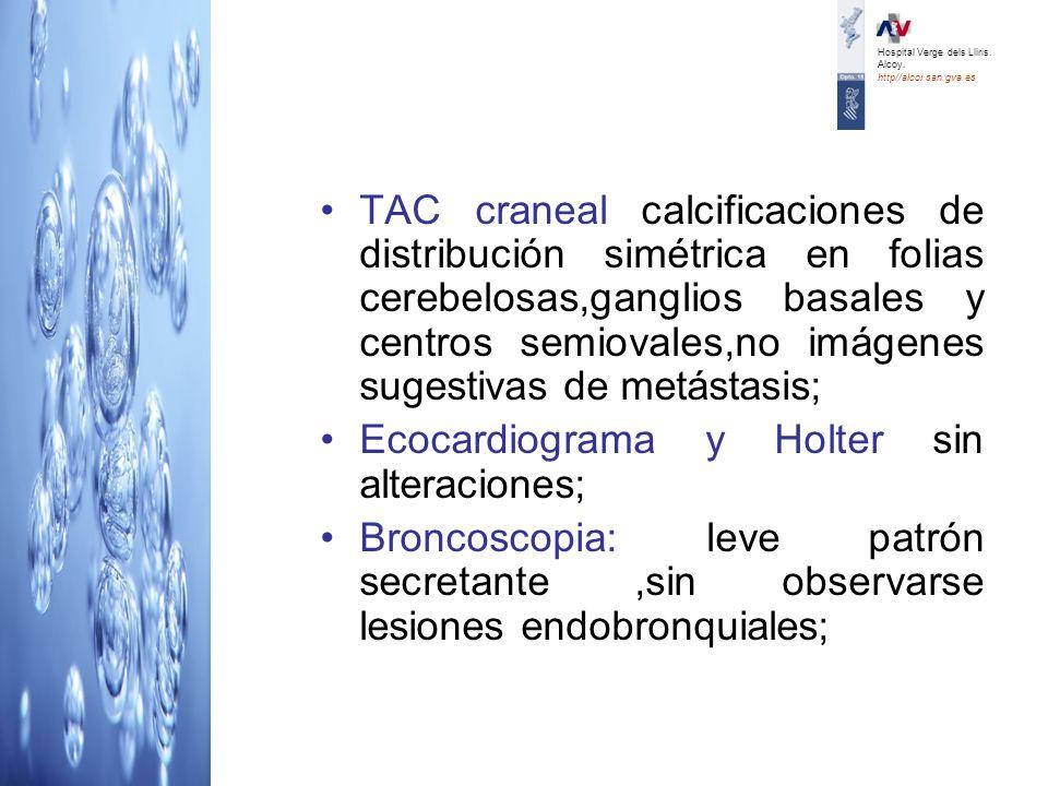 Ecocardiograma y Holter sin alteraciones;