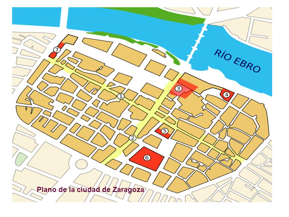 Plano de la ciudad de Zaragoza