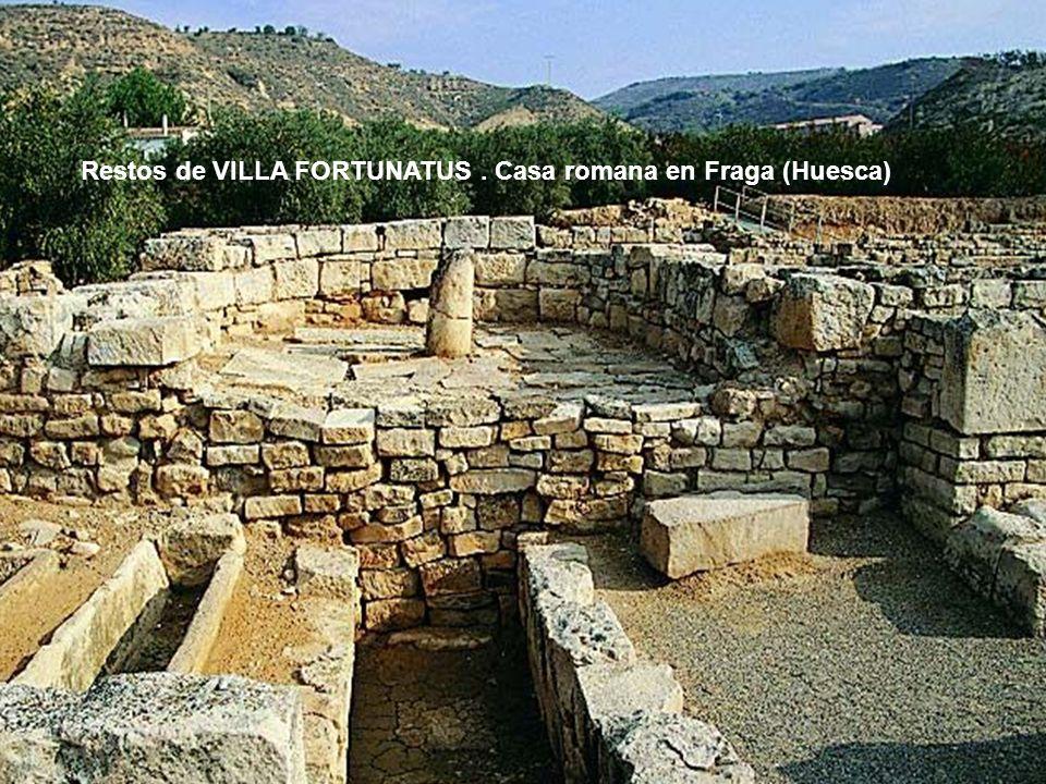 Restos de VILLA FORTUNATUS . Casa romana en Fraga (Huesca)