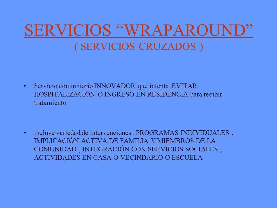 SERVICIOS WRAPAROUND ( SERVICIOS CRUZADOS )