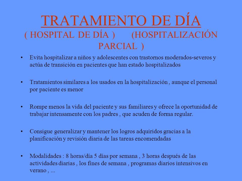 TRATAMIENTO DE DÍA ( HOSPITAL DE DÍA ) (HOSPITALIZACIÓN PARCIAL )