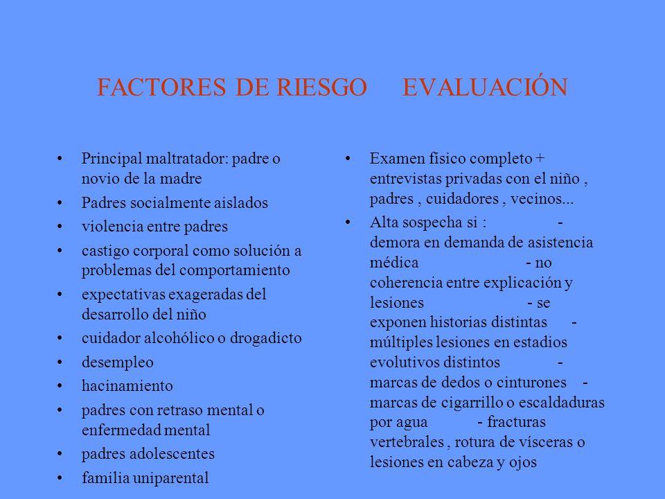 FACTORES DE RIESGO EVALUACIÓN