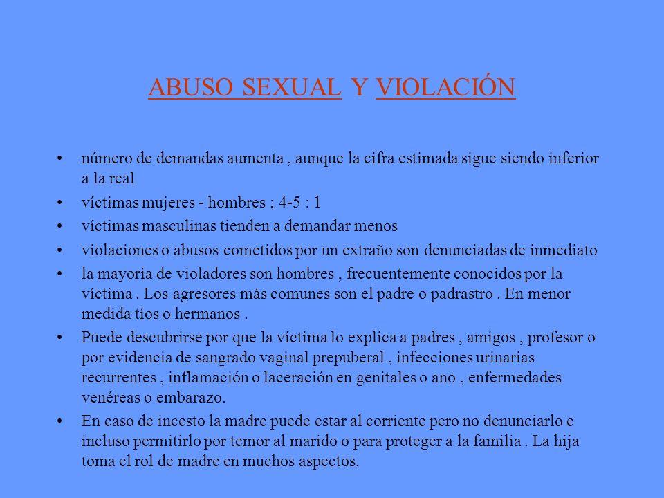 ABUSO SEXUAL Y VIOLACIÓN
