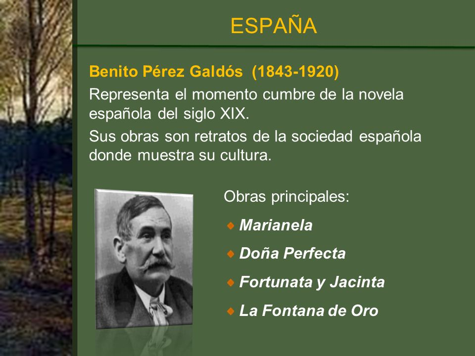 ESPAÑA Benito Pérez Galdós (1843-1920)