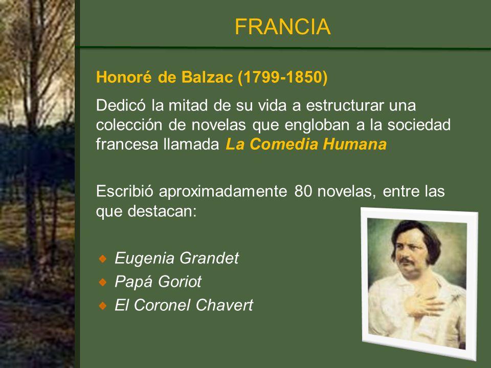 FRANCIA Honoré de Balzac (1799-1850)
