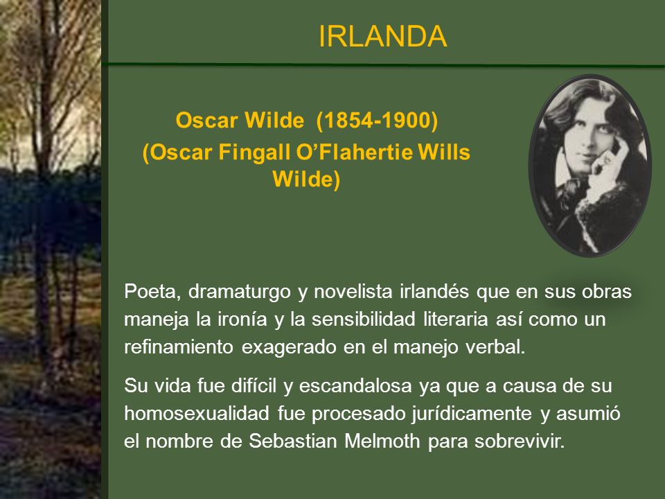 (Oscar Fingall O'Flahertie Wills Wilde)