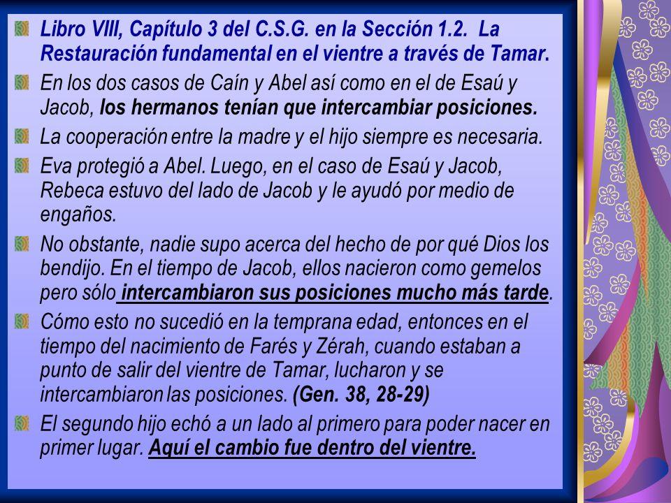 Libro VIII, Capítulo 3 del C. S. G. en la Sección 1. 2
