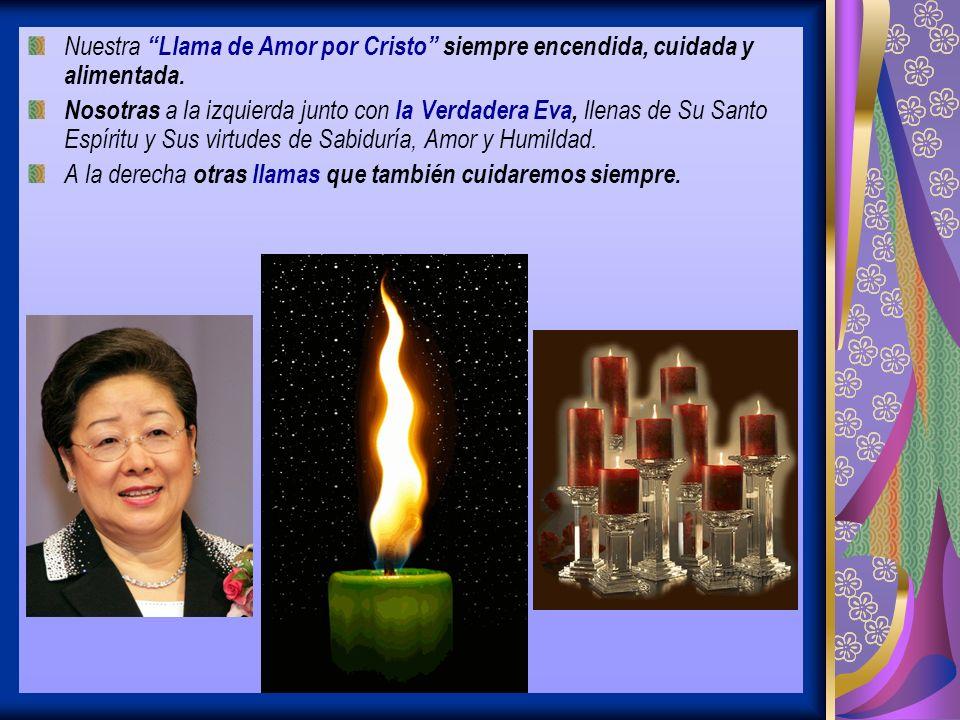 Nuestra Llama de Amor por Cristo siempre encendida, cuidada y alimentada.