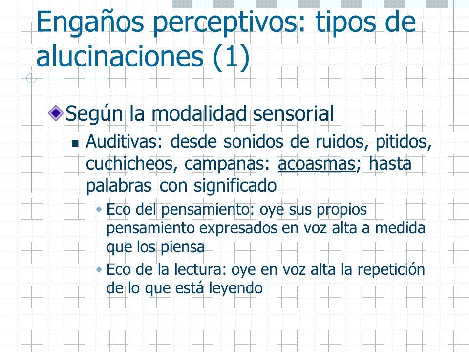 Engaños perceptivos: tipos de alucinaciones (1)
