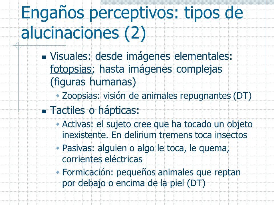 Engaños perceptivos: tipos de alucinaciones (2)