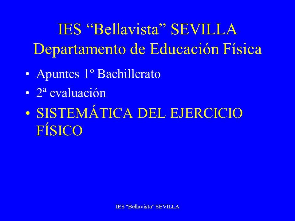IES Bellavista SEVILLA Departamento de Educación Física