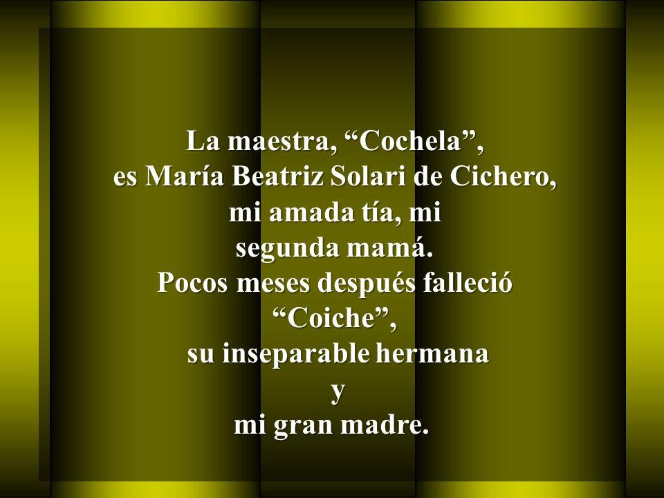 es María Beatriz Solari de Cichero, mi amada tía, mi segunda mamá.