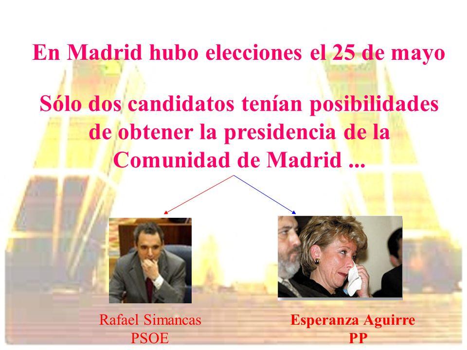 En Madrid hubo elecciones el 25 de mayo