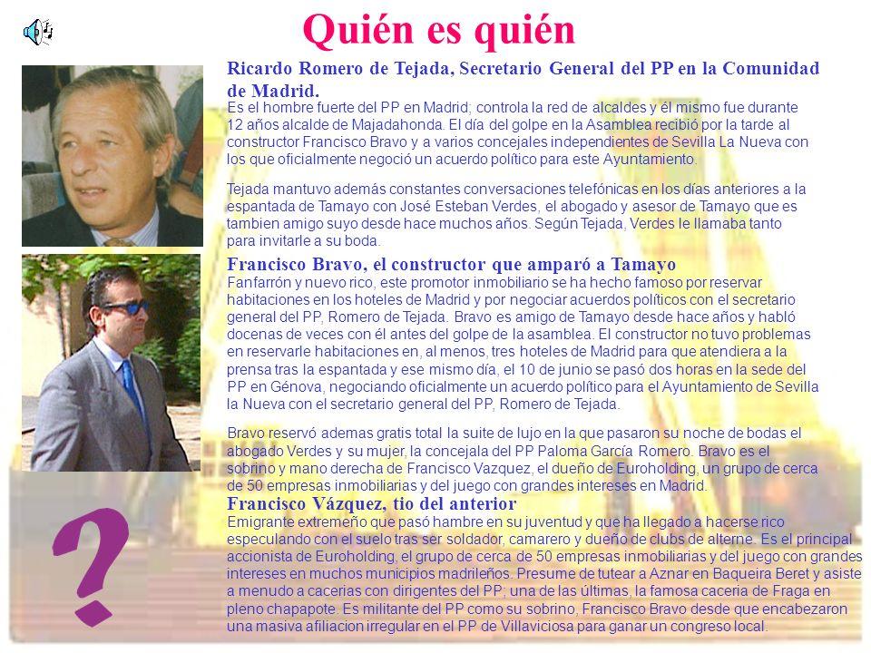 Quién es quién Ricardo Romero de Tejada, Secretario General del PP en la Comunidad de Madrid.