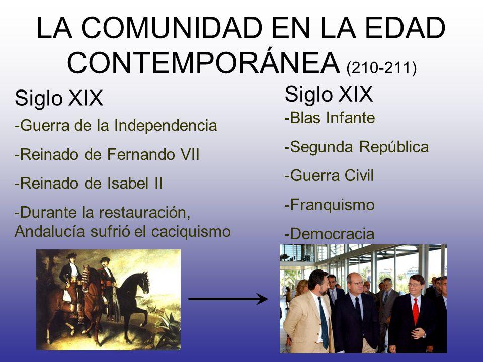 LA COMUNIDAD EN LA EDAD CONTEMPORÁNEA (210-211)