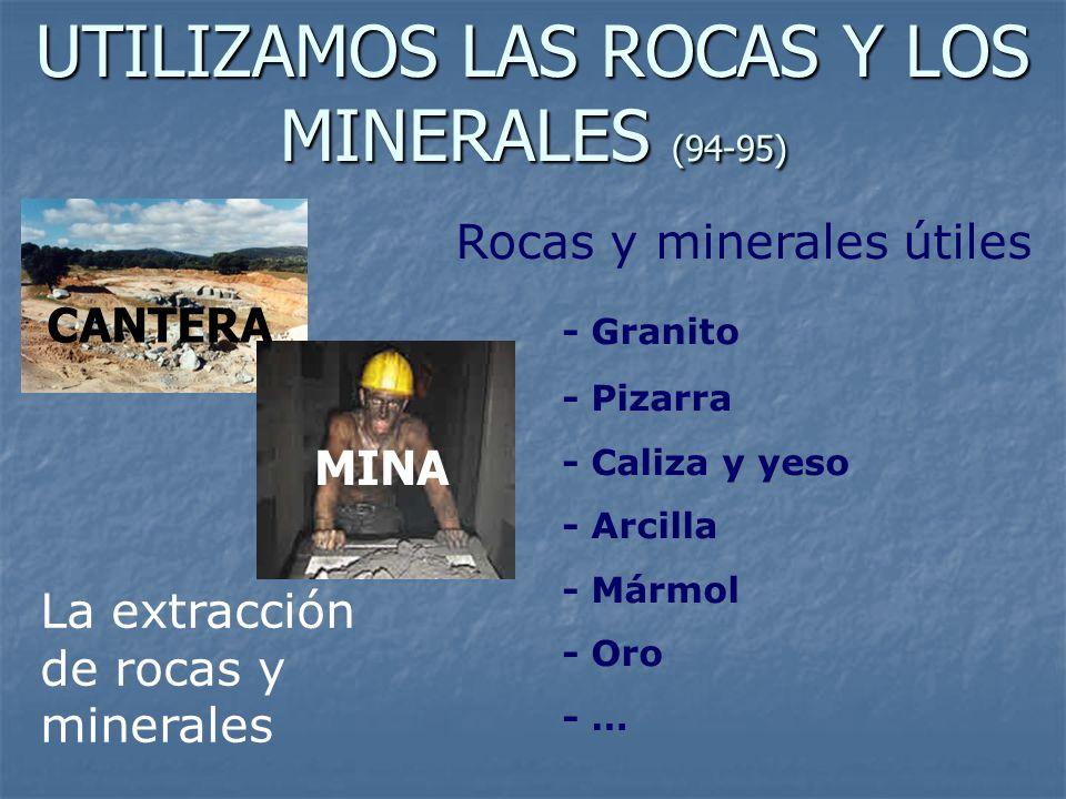 UTILIZAMOS LAS ROCAS Y LOS MINERALES (94-95)