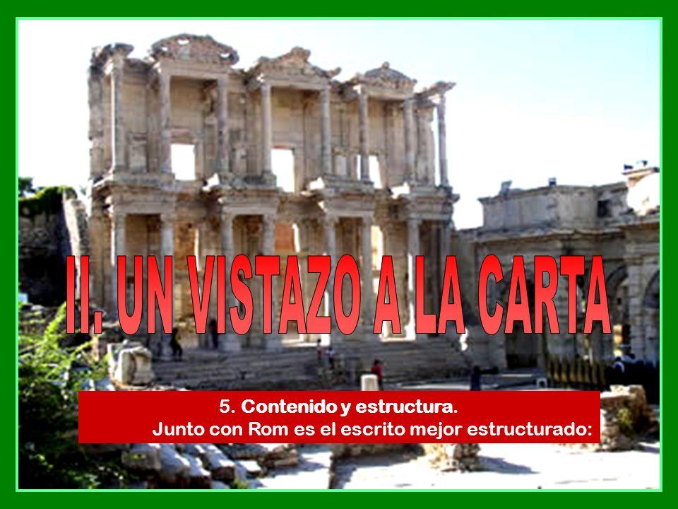II. UN VISTAZO A LA CARTA 5. Contenido y estructura.