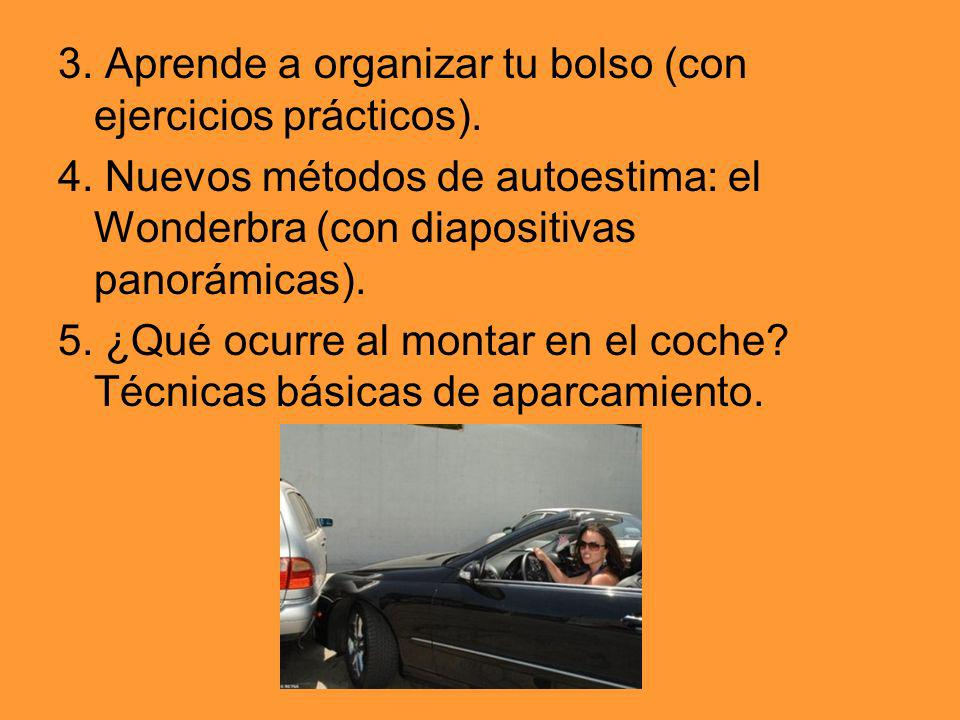 3. Aprende a organizar tu bolso (con ejercicios prácticos).