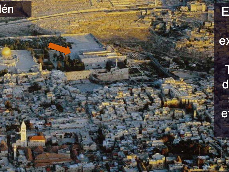 Jerusalén En medio está la explanada del Templo, donde se sitúa el evangelio de hoy