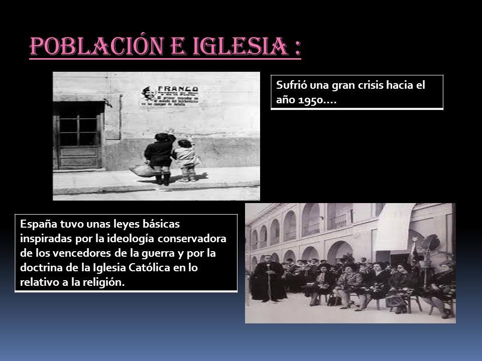 Población e iglesia : Sufrió una gran crisis hacia el año 1950….