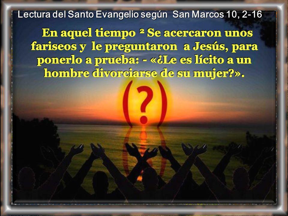 Lectura del Santo Evangelio según San Marcos 10, 2-16